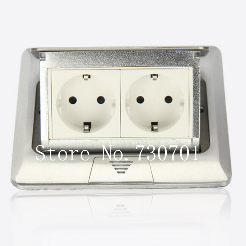 (Ship from RU) Aluminum Silver Panel EU Standard Pop Up Floor Socket Electrical Outlet /Ground Socket 2pcs/set Free Shipping understanding mysql internals