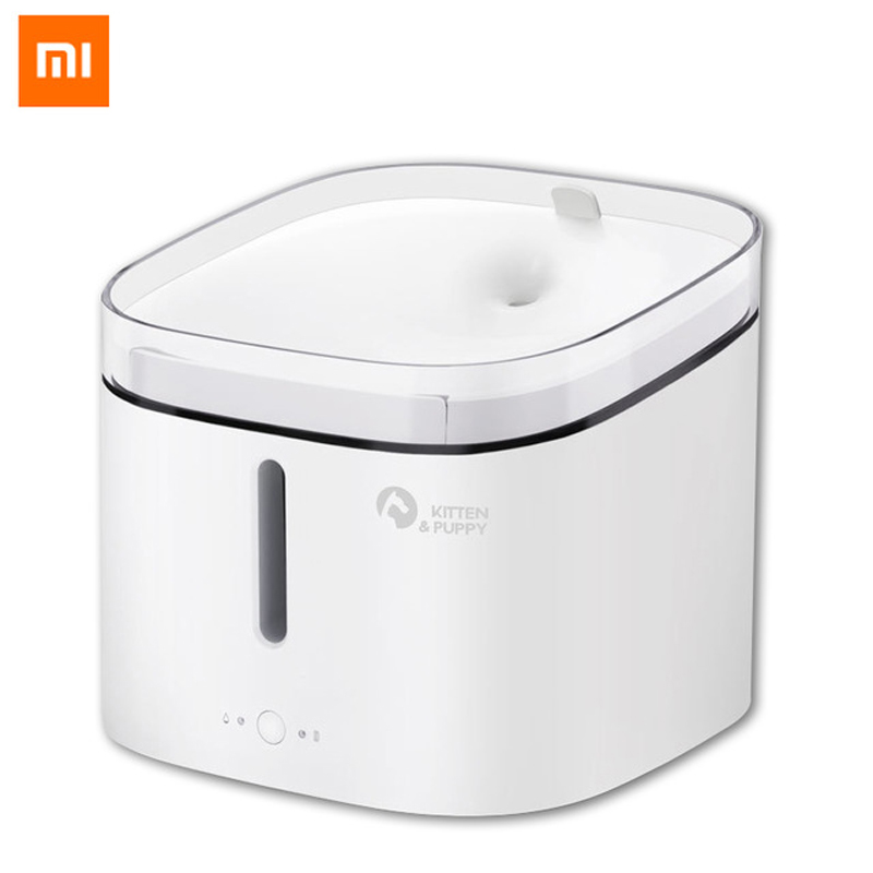 Original Xiaomi Mijia Kitten Puppy Pet Water Dispenser For Dog And Cat Clear Water White Color