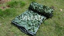 Купить с кэшбэком 8M*9M green camo netting filet camouflage netting military sun shelter camouflage hunting tarps for car covers paintball