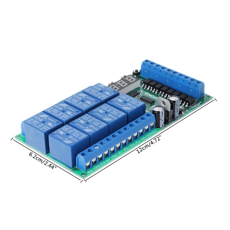 Multifunction Time Delay Relay Module With 8channel Digital Tube Power Sequencer tex multifunction time relay re17rcmu re17 ramu