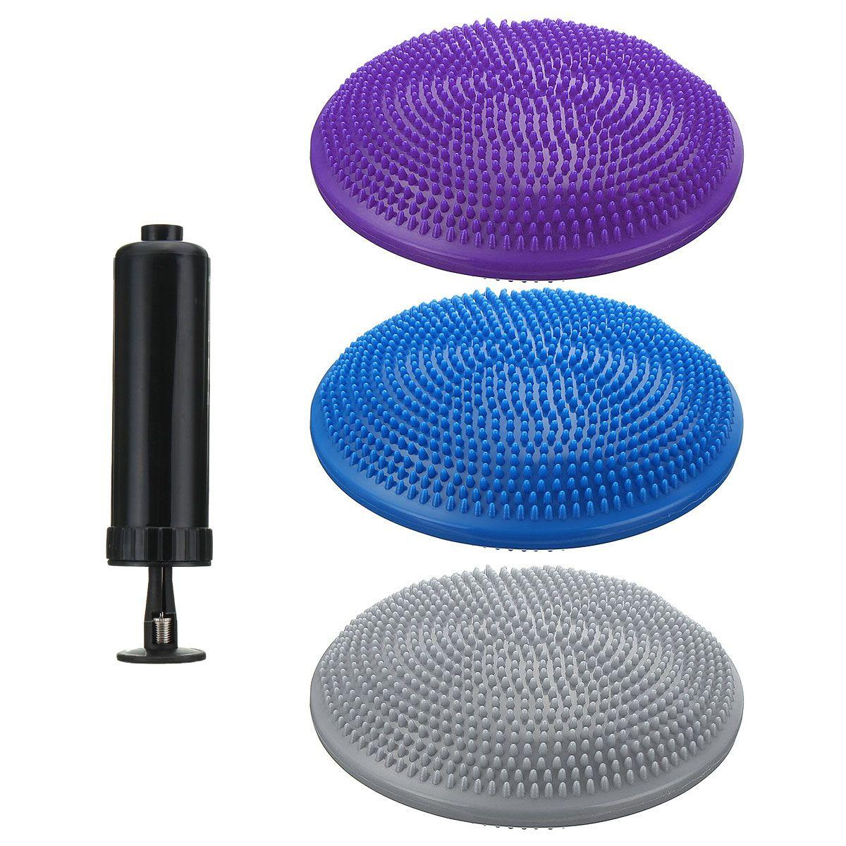33x33 см надувной Массажный мяч для йоги, массажная подушка, коврик, прочный Универсальный спортивный тренажерный зал, фитнес, йога, воблер, ст...