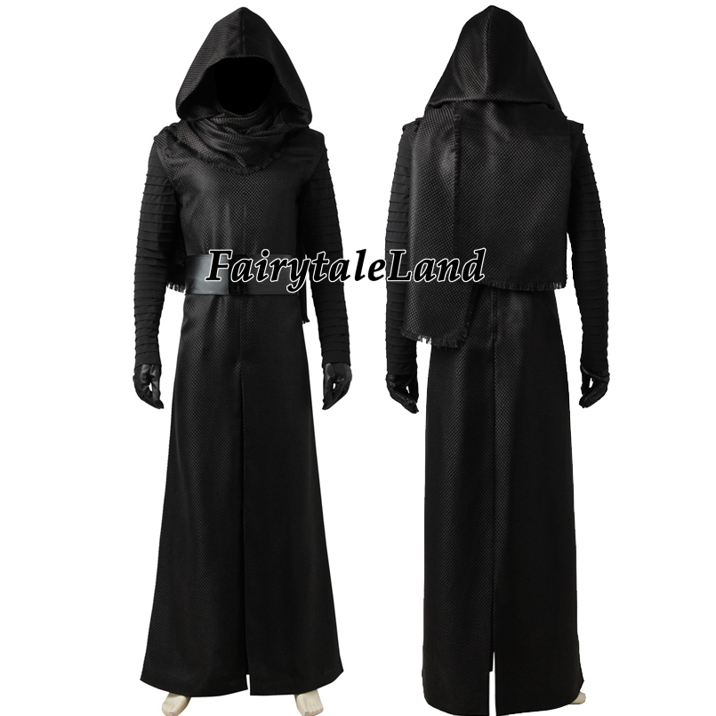 Image 2 - Star Wars The Force Awakens Kylo Ren Cosplay Costume Carnival Halloween Costumes Kylo Ren Cosplay battle suit custom made-in Movie & TV costumes from Novelty & Special Use