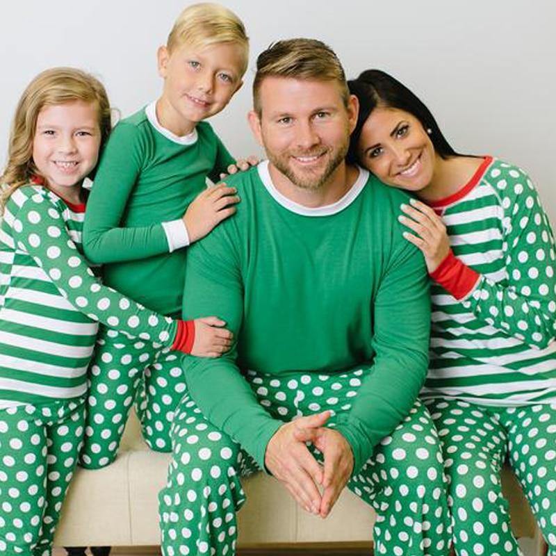 43916a4248 Christmas Family Matching Sleepwear Pyjamas Set PJS Kids Mums Dads Xmas Gift
