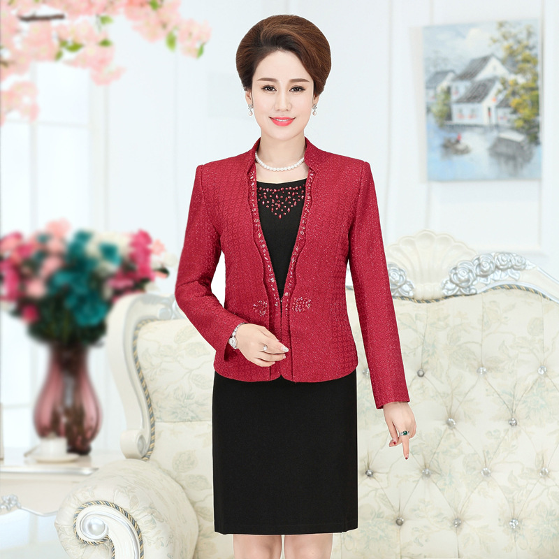 55e0e4c75b Robes De Soirée Mariée La Tenue Violet Robe Mode Fête Femininos Veste  Nouvelle Mère QrsChtd