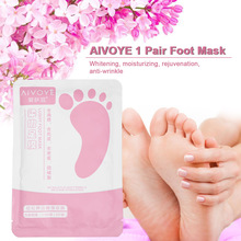 1Pair AIVOYE Foot Mask Dead Skin Remover Plant Essence Care Whitening Moisturizing Peeling Baby Feet Mask For Heels Exfoliating
