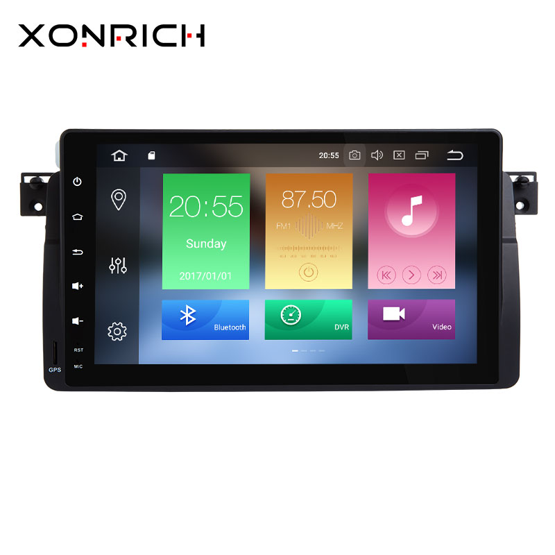Xonrich 1 Din Android 8.0/Android 8.1 Autoradio Pour BMW E46 Navigation M3 Rover 75 318/320 /325/330/335 GPS DVD Lecteur Qcta Core