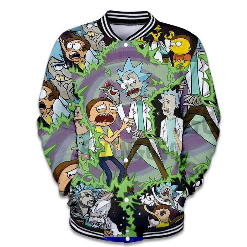 Rick and Morty 3D Hoodie Men Women Brand Clothing ricky and morty Cartoon Printed Basic Baseball Jackets Veste Homme Streetwear