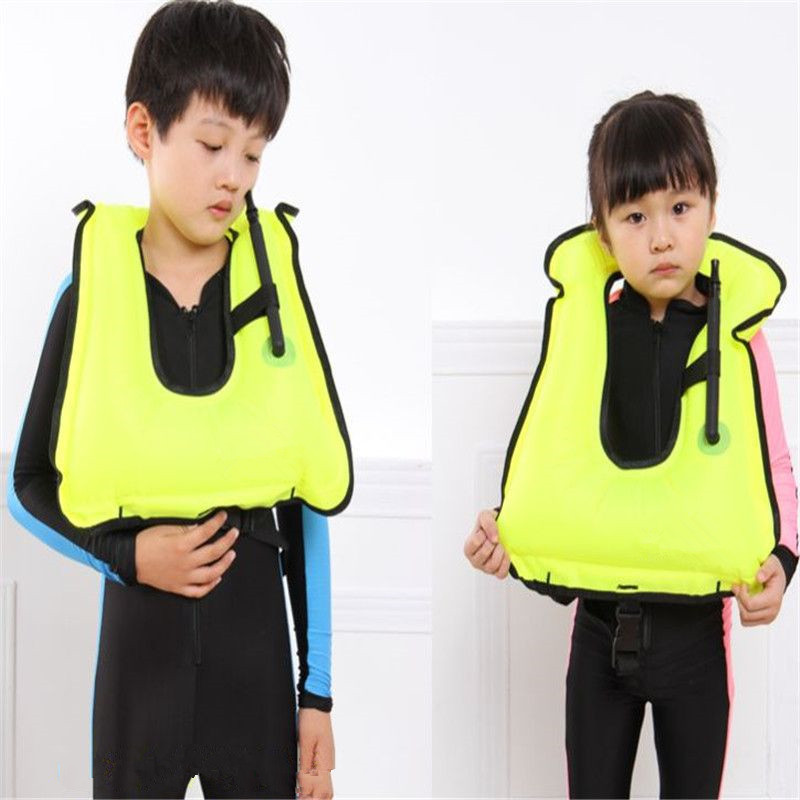 best quality Inflatable Life Vest water sports Life Jacket Swimming jacket life jacket Children learn swimming buoyancy vest