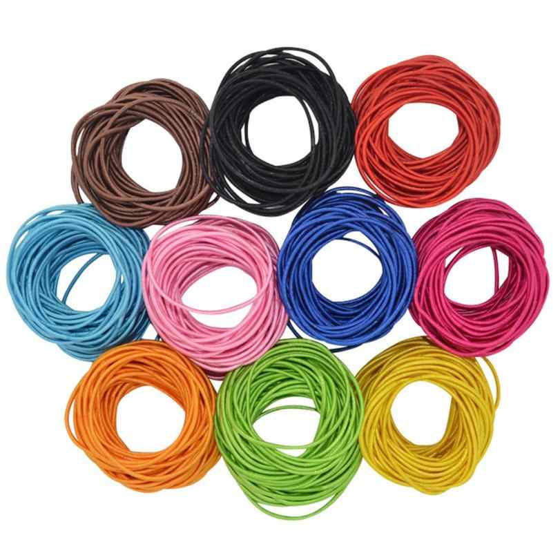 New Good Sale 100pcs Women Elastic Hair Ties Band Ropes Ring Ponytail Holder Accessories  M23X17