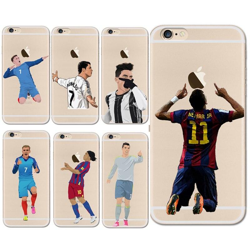 soccer cartoon cristiano ronaldo messi neymar soft silicone phone cases for iphone x 8 7 6 6s. Black Bedroom Furniture Sets. Home Design Ideas