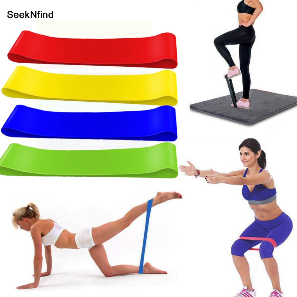 4PCS/Sets Resistance Bands Rubber Band Workout Fitness Gym Equipment Rubber Loops Latex Yoga Gym Strength Training Athletic