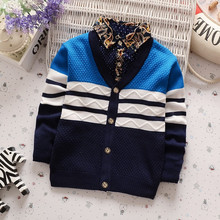 BibiCola Baby boy Sweater 2017 New Arrival Bebe Clothes Toddler Boys Cardigan Outwear Coat Spring Autumn Children's Jumpers Top(China)