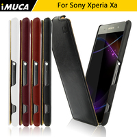 For Sony Xperia XA Case Sony XA Dual Cover IMUCA Luxury Flip Leather Case Cover For