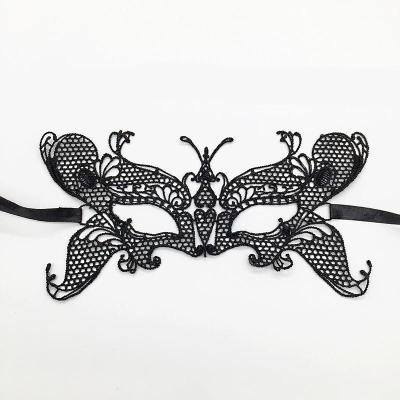 Черная Сексуальная кружевная Маскарадная маска для карнавала, Хэллоуина, маскарада на половину лица, маски для вечеринки, праздничные принадлежности для вечеринки#30 - Цвет: PM043