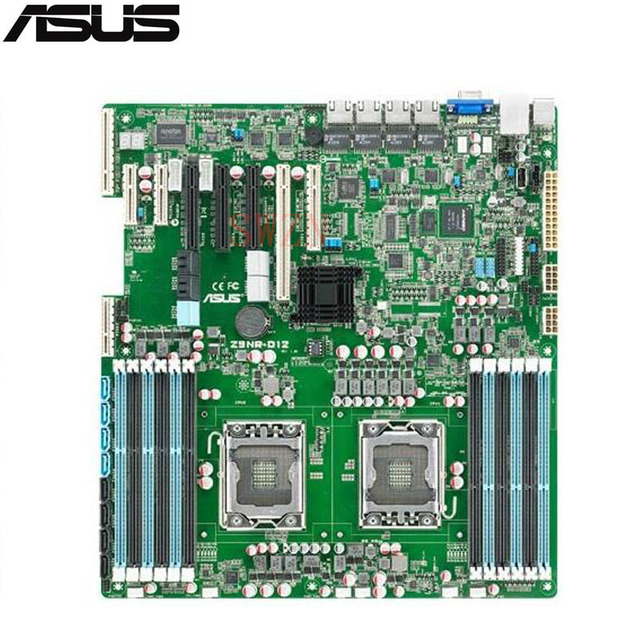 original Used Server motherboard For Asus Z9PR-D12C Socket 2011 Maximum 12*DDR3 32GB 6xSATAII ATX