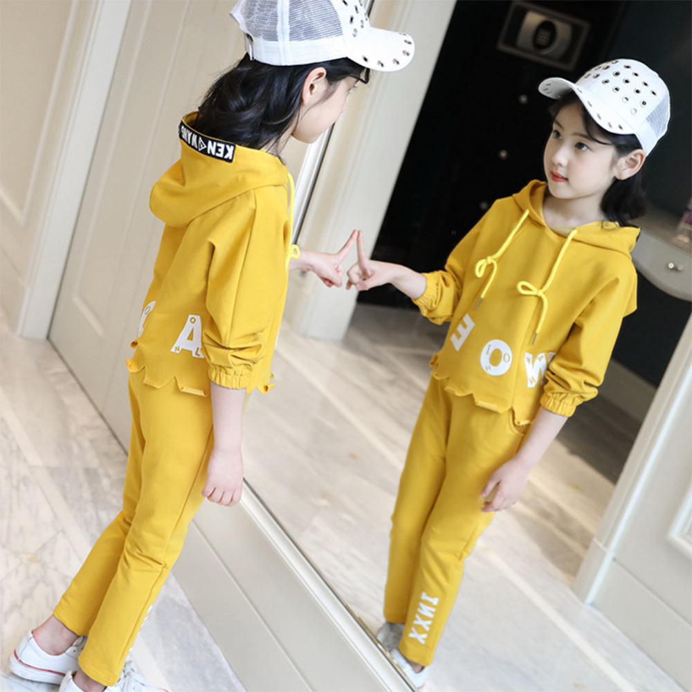 Kids Tracksuit For Girls Age 6-14 Kids Hoodies+Pants Girls Sport Suit spring Girls Clothes 120-160cm