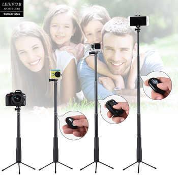 Palo de Selfie para Gopro Bluetooth acción teléfono cámara de vídeo deporte Adaptador Gimbal portátil Handgrip Estabilizador