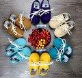 De calidad superior Del Bebé Mocasines Zapatos 2015 de los bebés Recién Nacidos y leathe genuino de los muchachos primero walker zapatos Del Niño Zapatos Infantiles suaves