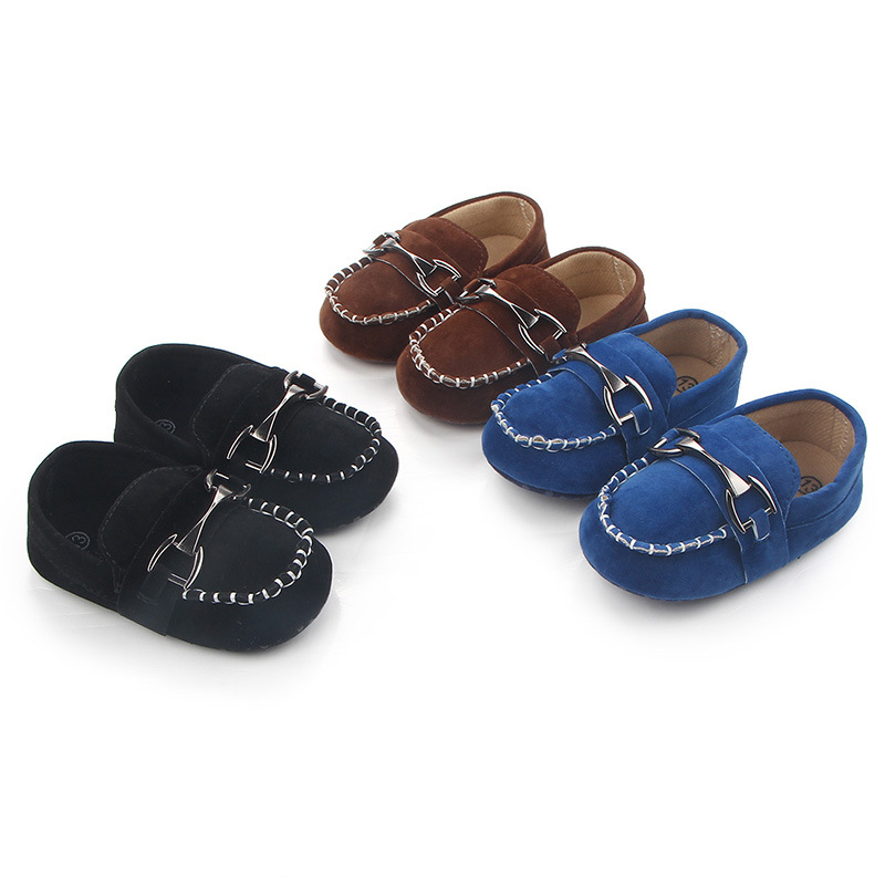 Leather Baby Shoes Moccasin  Infant  First Walkers  Black Shoes For Newborn Leather Baby Boy Shoes For 0 -1year Babies Wholesale