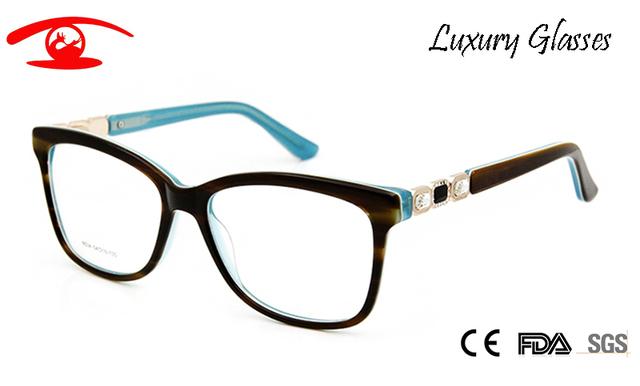 Armações de óculos Mulheres Designer de marca Do Vintage de Strass Luxo Óculos Rx Óculos De Acetato De Mulheres Sexy