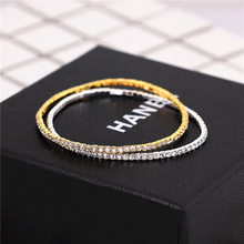 2019 New Bracelets For Women Gold Silver Full Crystal Elastic Bracelet Girl Gifts Jewelry Accessories pulseras mujer bileklik(China)