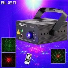 ALIEN RG 3 עדשת 48 דפוסים ערבוב לייזר מקרן שלב הדלקת אפקט כחול LED שלב אורות להראות דיסקו DJ המפלגה תאורה