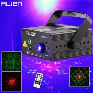 Image 1 - ALIEN RG 3 Lens 48 Patterns Mixing Laser Projector Stage Lighting Effect Blue LED Stage Lights Show Disco DJ Party Lighting