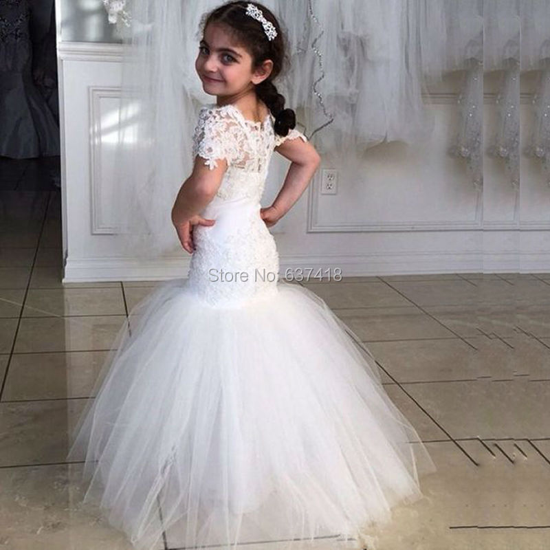 Us 1090 Mermaid Flower Girl Dresses First Communion Dresses For Girls With Lace Vestidos Primera Comunion In Flower Girl Dresses From Weddings