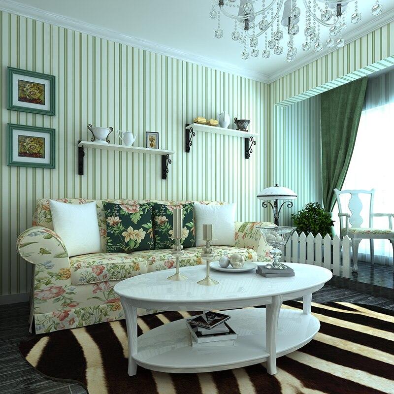 online kaufen großhandel grün streifen tapete aus china ... - Wohnzimmer Grun Blau