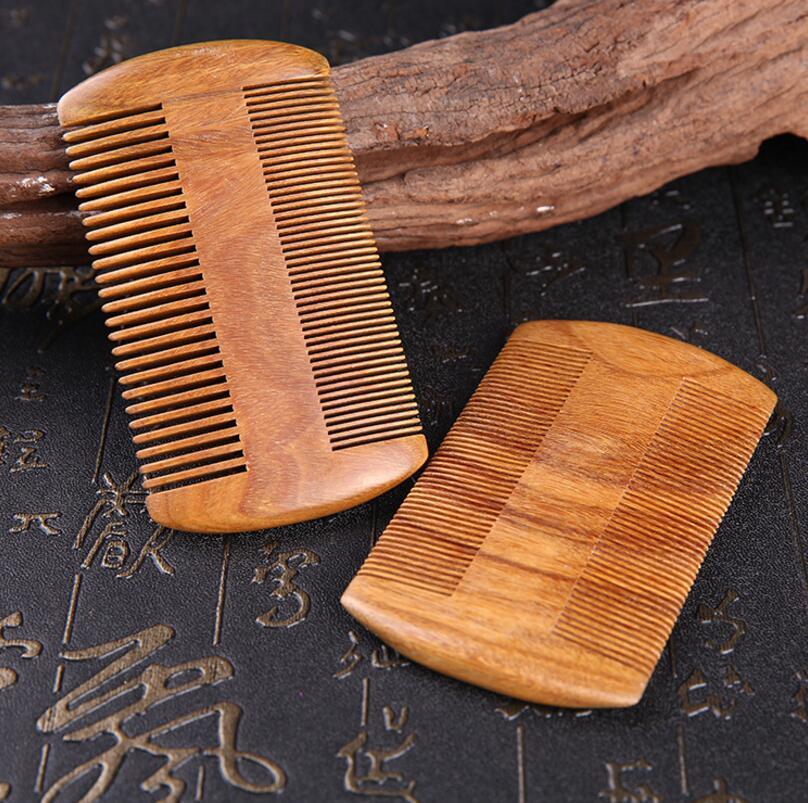 Wholesale Natural Red Sandalwood Handmade Super Narrow Tooth Wood Comb, Anti Static Beard Hair Comb