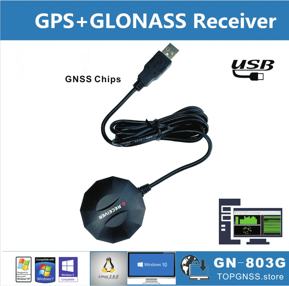 Nuevo USB GPS GLONASS Módulo de recepción, 8030 GNSS chip módulo GNSS chip NMEA0183 apoyo BDS Galileo alternativa BU353S4