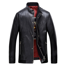 big size New Arrival Leather Jackets Men's jacket middle-agedOutwear Men's Coats Spring & Autumn PU De Coat Plus Size leather