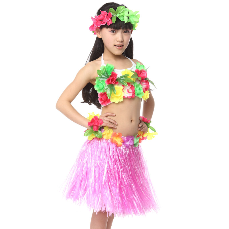 03f1910bea267 US $187.0 |10pcs/lot Free Shipping Halloween Carnival Christmas Kids Girls  Hawaiian Hula Skirts Dance Clothes Children Fancy Dress Costumes-in ...