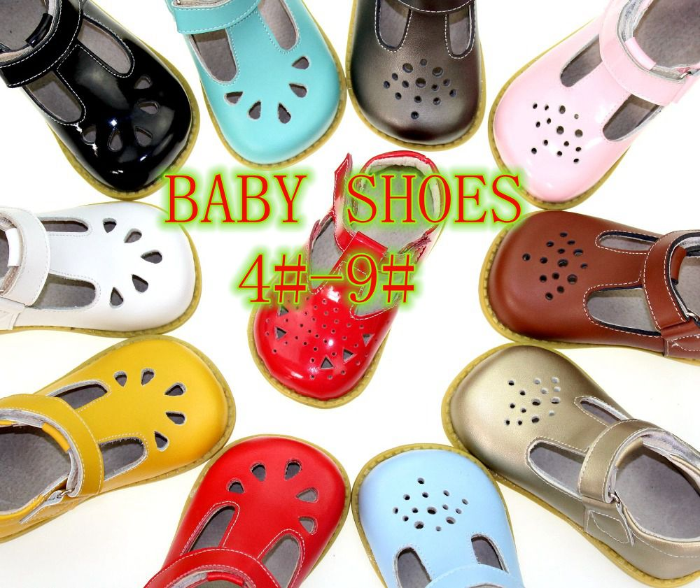 Girls leather shoes  baby girls first walkers for with flower design Antislip Real top quality