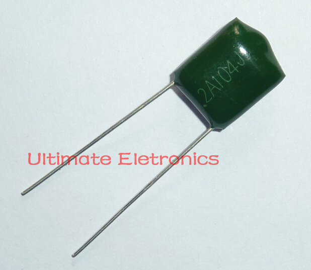 10pcs Mylar Film Capacitor 100V 2A104J 0.1uF 100nF 2A104 5% Polyester Film Capacitor