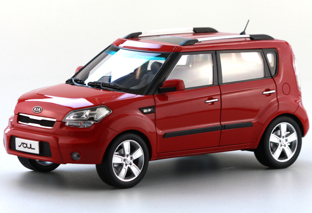 1 18 Cast Model For Kia Soul Orange Alloy Toy Car Collection Gifts
