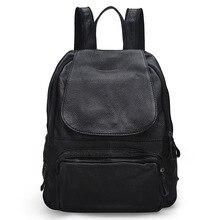 Новый первый слой мода досуг теплые дамы сумка кожа рюкзак