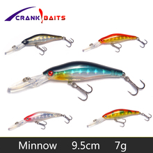 CRANK BAITS 1Pcs 9.5cm 7g Wobblers Lures Fishing Tackle 3D Eyes Minnow Fishing Lure Swim Crank Bait 6# hook fishing tackle YB247 seapesca topwater insect bait 50mm 6 3g flying jig wobblers crank bait fishing tackle fishing lure jk250