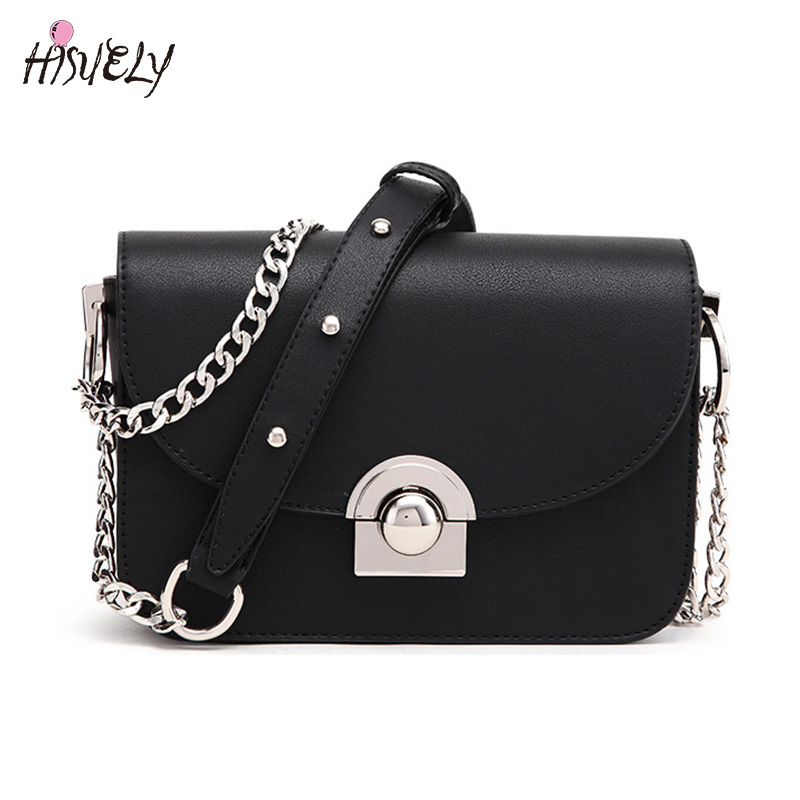 2017 Hot Sale New Fashion Women Handbags Messenger Bag Chains PU Leather Lady Shoulder Bag Vintage Small Mini Flap Bag Bolsas yuanyu 2018 new hot free shipping import crocodile women chain bag fashion leather single shoulder bag small dinner packages