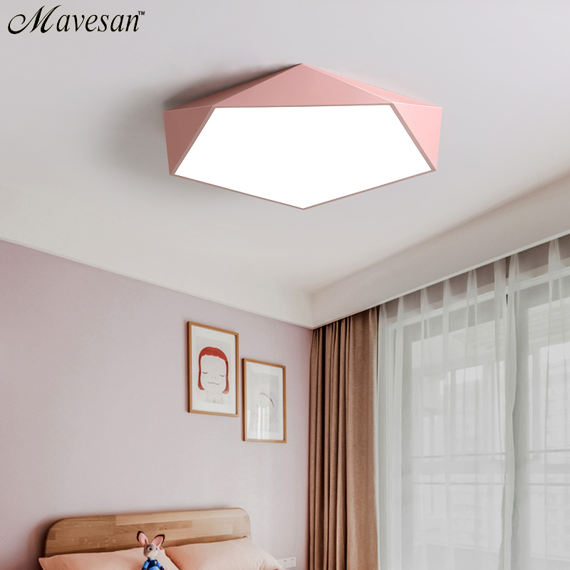 Image 3 - Macarons Ceiling Lights Colorful Lampshade Lamp For Living room Bedroom Kids room ceiling mount indoor Lights Ceiling Lights-in Ceiling Lights from Lights & Lighting