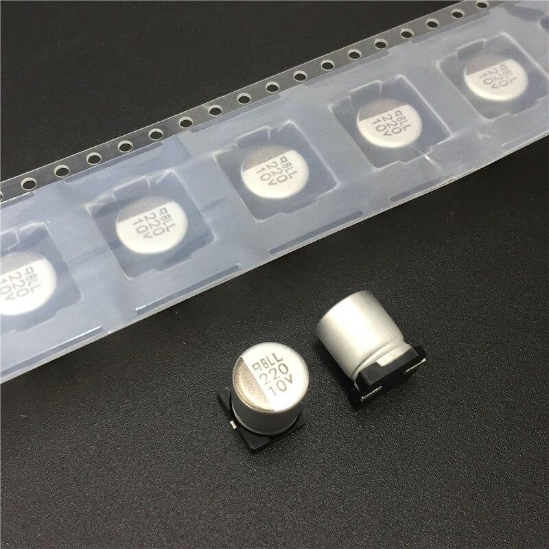 20pcs 220uF 10V NIPPON NCC MVL Series 8x10mm Long Life 10V220uF SMD Motherboard Capacitor