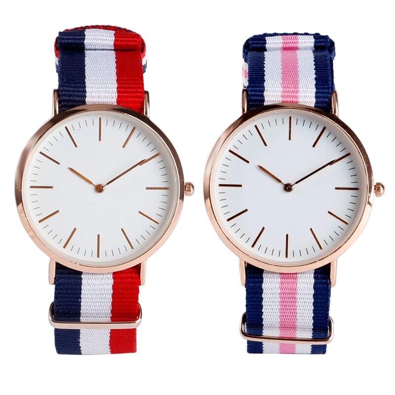 Unisex Wrist Quartz Watch Sport Military NATO Style Ourdoor Stripe Nylon Band Strap Fashion Simple Casual Relogio Masculino