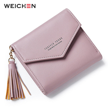 цены 2017 New Tassel Pendant Day Clutch Wallet For Women Coin Bag Card Holder Short Small Woman's Wallets and Purses Female Lady Girl