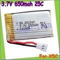 Wholesae 10pcs/lot 3.7V 650mAh Lipo Battery for Syma X5C X5 /syma x5c Upgraded 650mAh battery Register free shipping