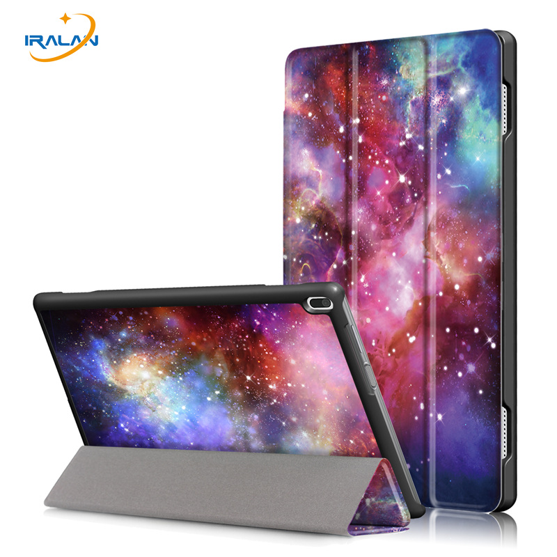 2018 New Slim Smart Stand Case For Lenovo TAB4 Tab 4 10 TB-X304L TB-X304F TB-X304N 10.0 inch Print Folio PU Leather Cover+4 in 1