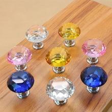 2016 New 10Pcs 30mm k9 Crystal Glass Diamond Shape Cabinet Knob Drawer Pull Handle Kitchen SJ-1001