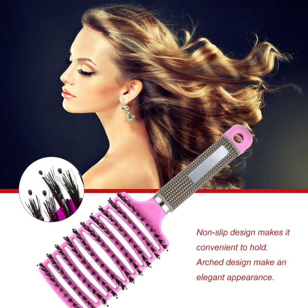 Professional Combs Women Hair Scalp Massage Comb Bristle & Nylon Hairbrush Wet Curly Detangle Hair Brush For Salon Hairdressing