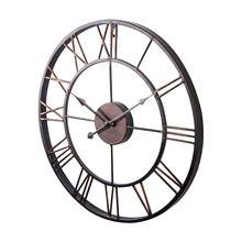 Nuevo reloj de pared Extra grande Estilo Vintage llamativo de Metal estilo campestre-color Chocolate
