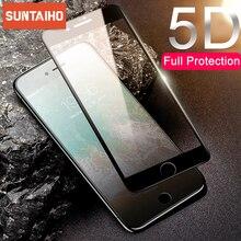 Suntaiho 5D полное покрытие закаленное стекло для iPhone 11 Xr Xs Защита экрана для iPhone X 8 6 7 Plus 11 ProMax защитное стекло