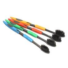 4 ШТ. Двухместный Ultra Soft Зубная Щетка Bamboo Уголь Nano Кисть Уход За Полостью Рта(China (Mainland))